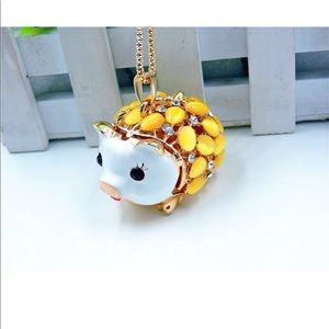 Jewelry - Opal Crystal Yellow Pig Necklace
